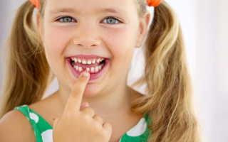 График смены молочных зубов на постоянные